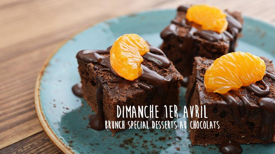 Brunch spécial desserts au chocolat