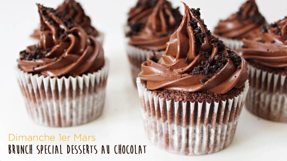 Brunch spéciale desserts au chocolat
